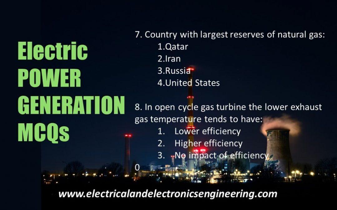 Top 10 MCQs on Electrical Power Generation