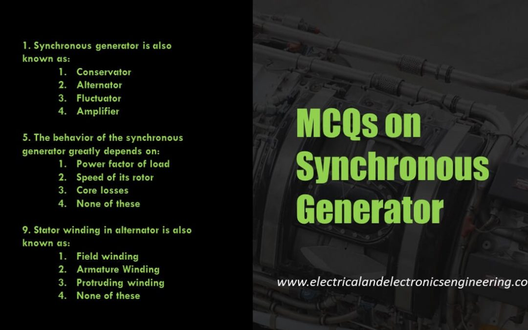 Top 10 Synchronous Generator MCQs