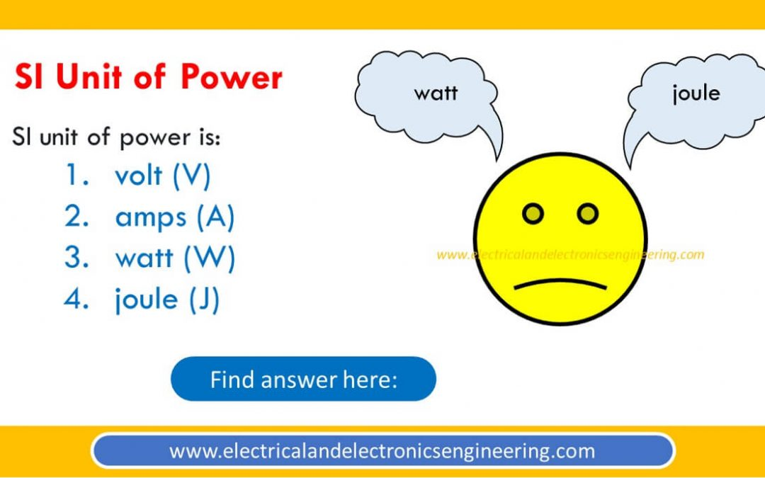 SI Unit of Power is [MCQ]