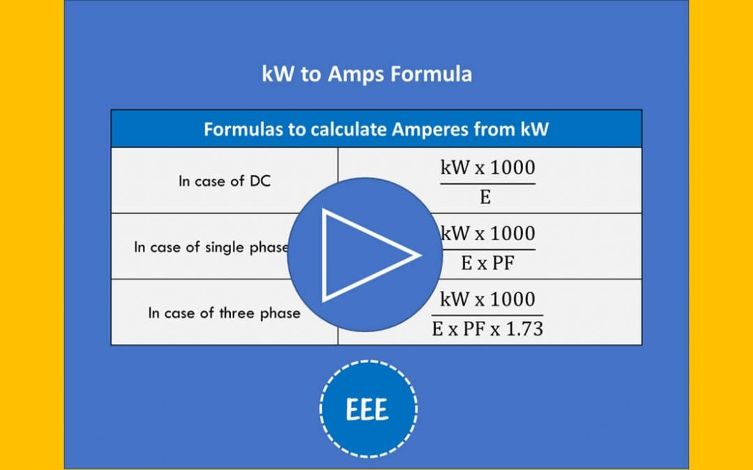 How to Convert kilowatts to Amp Video with 3 Solved Examples